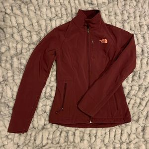 Maroon The North Face Jacket - Size XS